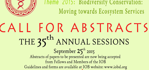 Call for Abstracts 2015 for 35th Annual Sessions of IOB