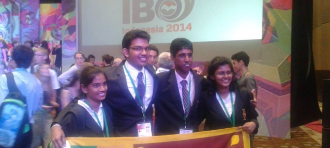 IBO 2014 Bali Indonesia – Sri Lanka won Merit award