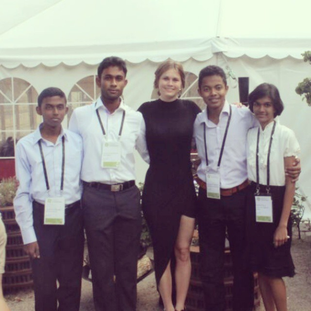 Students with guide  Katrine Ege Erner