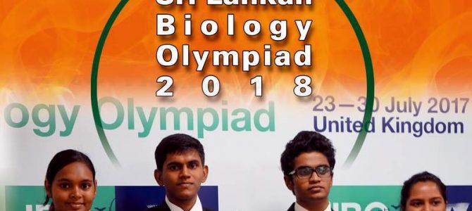 Sri Lankan Biology Olympiad 2018