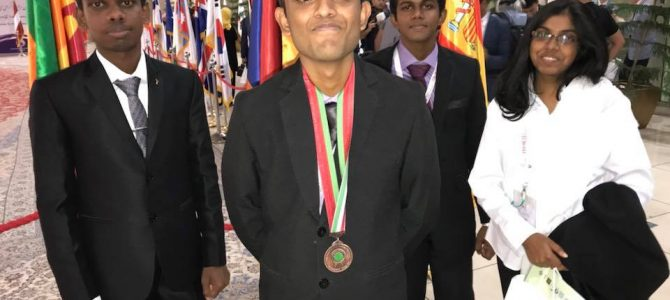 Bronze Medal for Sri Lanka at International Biology Olympiad 2018 at Iran